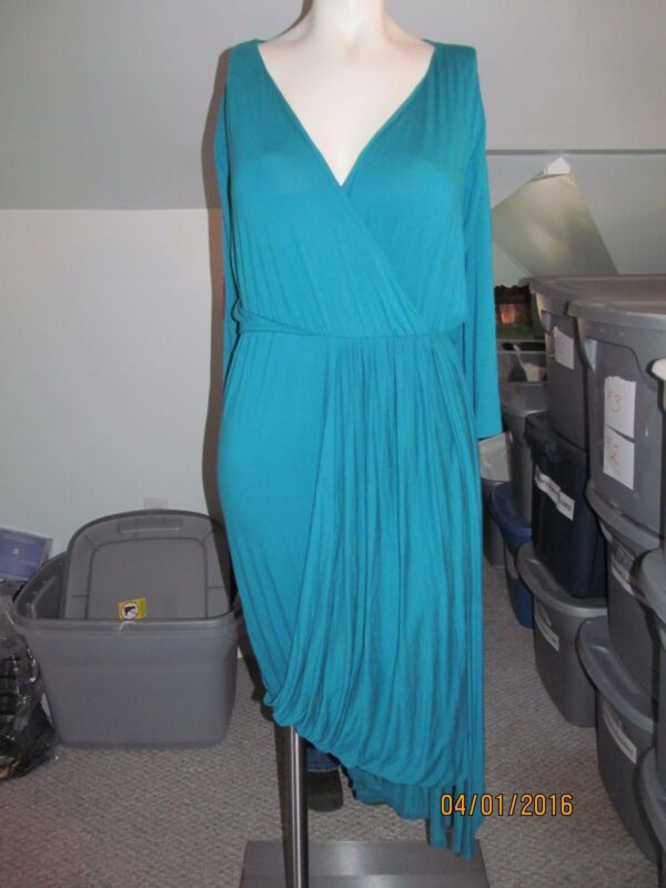 Women's Grayson Teal Pullover Dress  Size 26/28 New Without Tags