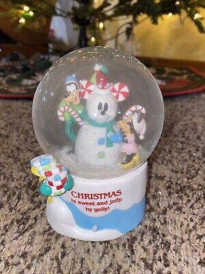 Disney Mickey Snowman Christmas Snowglobe