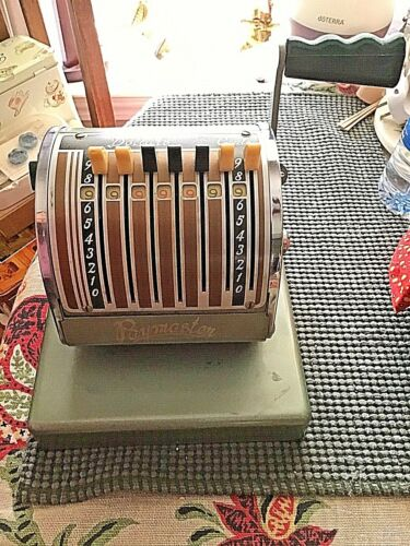 Vintage Paymaster Series S-550 Check Writer With KEY