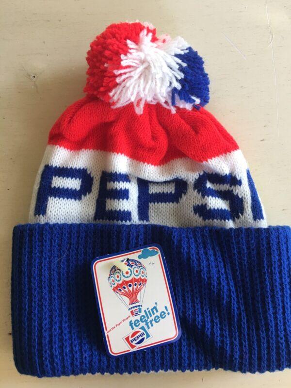 Vintage Pepsi Cola Knit Beanie Winter Ski Hat Stocking Cap New With Tag