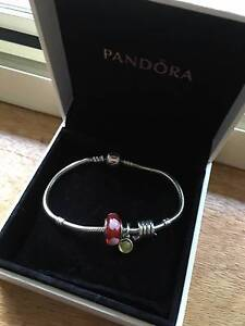 Pandora Silver Bracelet with 3 Charms Morphett Vale Area Preview