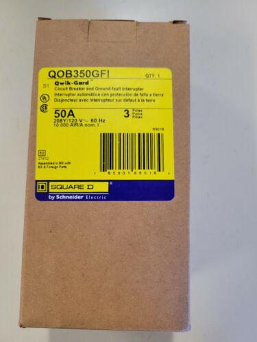 BRAND NEW Square D QOB350GFI 3P 50A 208Y/120V 3 PANEL SPACES CIRCUIT BREAKER