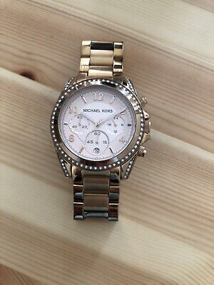 Women's Michael Kors Rose Gold Watch w/Crystals