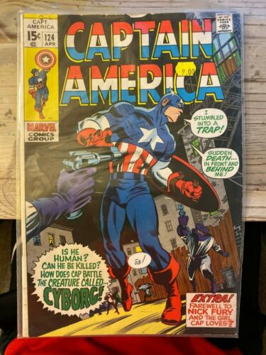 Captain America #124 FN condition FREE SHIPPING!