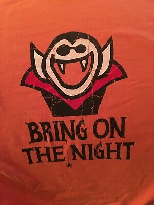 Life Is Good Halloween Shirt (Life Is Good Halloween L Shirt Dracula Bring On The Night Orange LS Fright)
