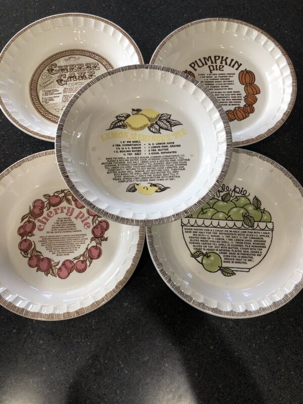 🥧Vintage Royal China Country Harvest Pie Plates Lot Of 5