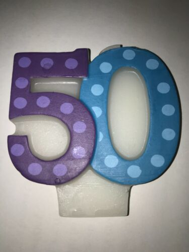 Bright & Bold 50th Birthday Candle -  $4.00 shipping for any quantity