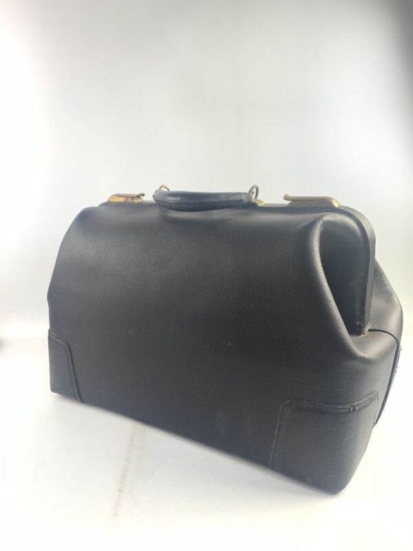 Vintage Leather Cowhide Doctors Bag #18/460- B378