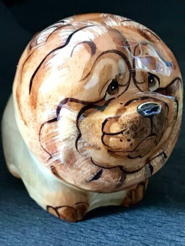 Chow Chow figurine selenite natural stone souvenir handmade