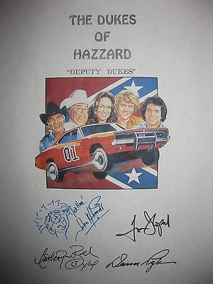 The Dukes of Hazzard Signed TV Script Tom Wopat John Schneider Bach Deputy repnt
