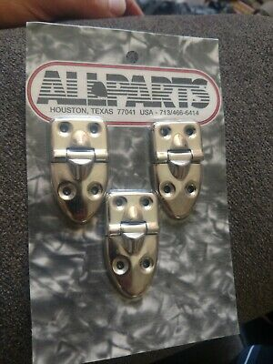 3 Universal Replacement Hardshell Guitar Case Hinges CP-9930-010 new