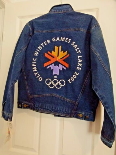 2002 Olympic Winter Games Denim Jacket Size S Charity Auction