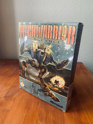 MechWarrior 4: Vengeance + Clan Mech Pak (rare PC big box)