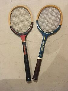 Old Tennis Racquets, Wooden with Strings
