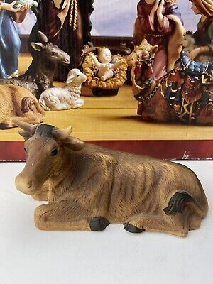"Kirkland Signature Porcelain Nativity Hand painted Cow 3"" Tall From Set 18366"
