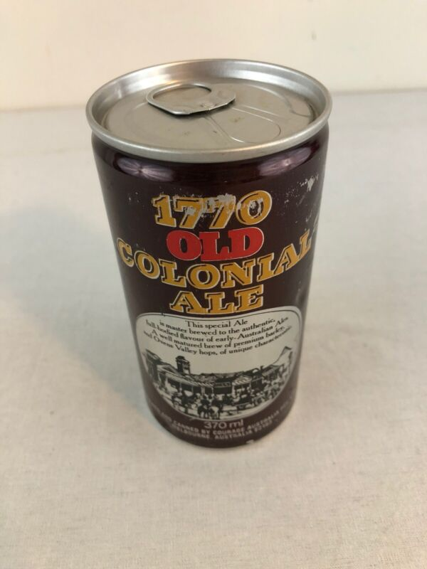 1770 Old Colonia 12oz Pull Tab Austrailia Beer Can - Bottom Opened