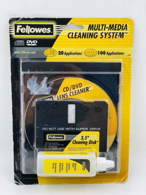 """Fellowes Multi-Media 3.5"""" Drive CD Drive Cleaning System"""