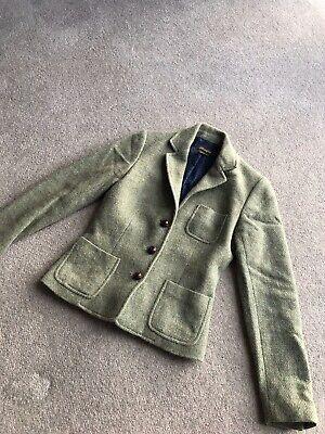 J Mclaughlin Wool & Alpaca Suede Elbows Blazer Jacket Size 0