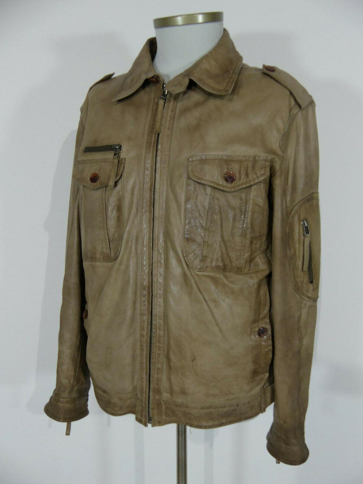 Milestone Herren Leder Jacke Lederjacke Größe 52 L Lammleder Mod. Whopper (#B8)
