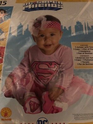 Halloween Costume Infant Supergirl 0-6 months, 6-12 months or 12 - 18 months