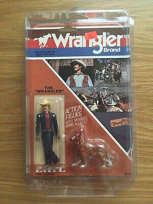 "The ""Wrangler"" Wrangler Brand Action Figure ERTL Vintage Cowboy 1983"
