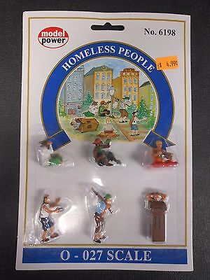 Model Power O Scale Homeless People Pack  6 Figures    Mp6198