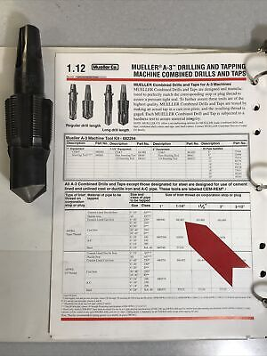 Mueller 681487 1-14 Awwacc Drill Tap Bit A-3 B-101 Good Used Condition