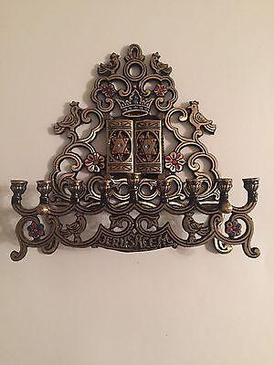 Menorah Jewish israel Brass Jerusalem