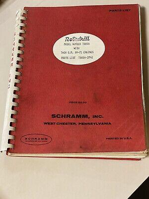 Vintage Schramm Rotadrill Well Drill Rig Parts List T985h Detroit Diesel 8v-71