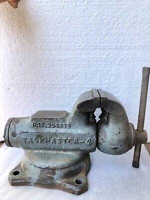 Vtg Taskmaster 4 Bullet Bench Machinist Vise Hard To Find