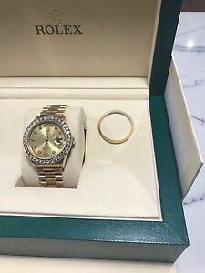 GENUINE 18ct PRESIDENTIAL DAY DATE ROLEX WITH DIAMOND BEZEL Bulimba Brisbane South East Preview