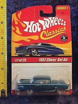 2004 Classic Hot Wheels 1:64 Spectraflame Blue 1957 Chevy Bel Air Series 1 NIP