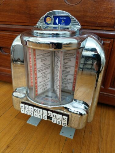 Seeburg Rock Ola Jukebox Wallbox Selector 3W1 Chrome Johnny Rocket *Missing #7*