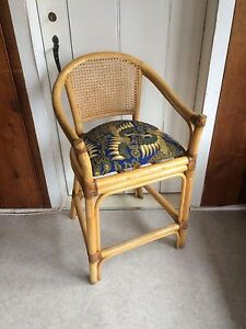 Lovely boho rattan bamboo chair midcentury vintage