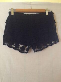 Black floral shorts size 8 Sandgate Brisbane North East Preview