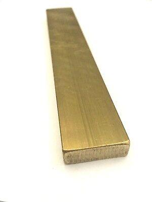 Brass Flat Bar Stock 12.5 X 1 X 6 C360 Extruded Rectangle Metal - 1pc