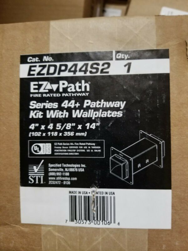 Fire sleeve EZ path series 44 pathway kit with wall plates.