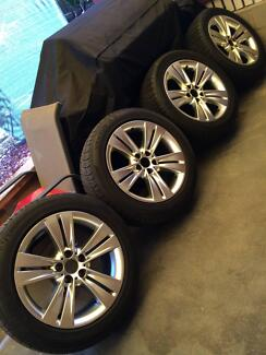 19 inch x 9 inch Wheels & Staggered Tyres ex BMW X5 Chirnside Park Yarra Ranges Preview