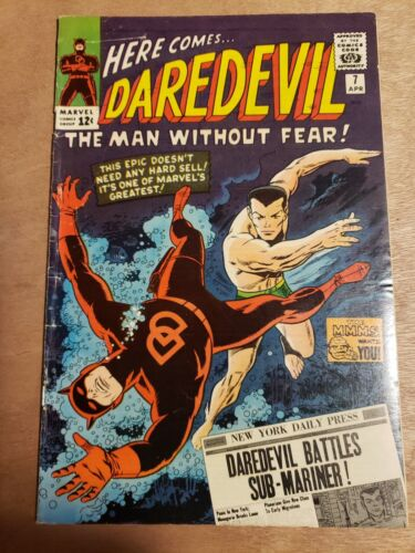 Daredevil #7 Wally Wood 1st Red Costume Sub-Mariner Warlord Krang Nice copy