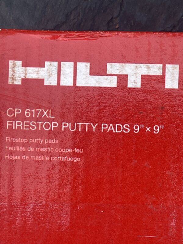 """HIlti 373387 Putty pad CP 617XL 9"""" x 9"""" (case of 20) firestop fire protection"""