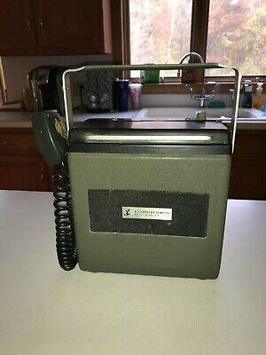 Rare Ef Johnson 250-825 Mobile Transceiver Ac Dc Battery Working