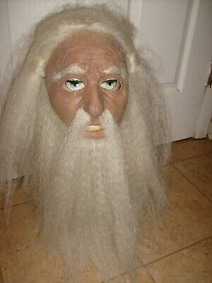 Old Wizard Halloween Costume (KUNG FU MASTER KILL BILL WIZARD HALLOWEEN COSPLAY COSTUME MASK  SOFT OLD MAN)