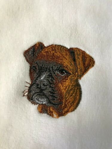 Boxer, Hand Towel, Embroidered, Custom, Personalized, Dog