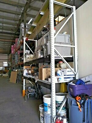 Pallet Racking Uprights - 10 Tall X 30 Deep - White Teardrop Style