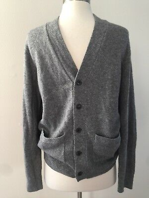 NEW JCrew Men Slim Softspun Merino Wool Alpaca Cardigan Sweater Small Gray E0511