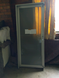 Aluminium Entry door in frame 2 to sell & Byfold doors aluminium white | Building Materials | Gumtree ...