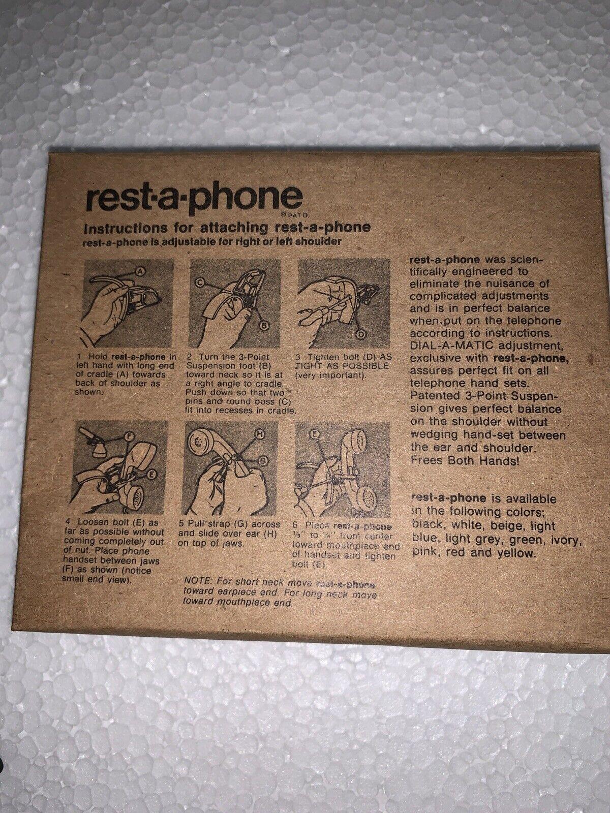 Vintage Rest-A-Phone Landline Telephone Shoulder Support