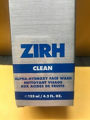 Zirh Clean Alpha-Hydroxy Face Wash, 4.2 oz Each New Boxed Lot Of 2 New