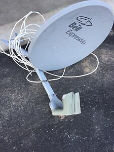 Bell satellite dish w cable