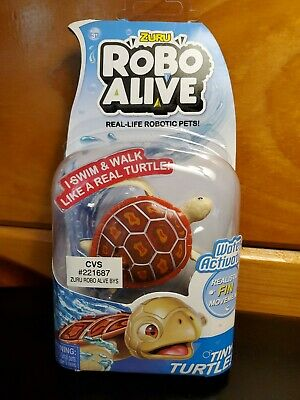 Zuru Robo Alive Water Activated Orange Tiny Turtle
